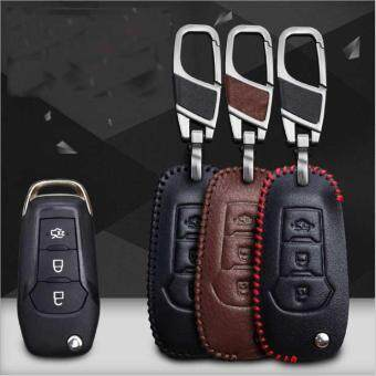 Red Linefor Ford Mondeo Furies Edge Blis Shand Stitched Leather Key Case