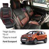 Broz Ford Ecosport Red Lining Design Universal Car PU Seat Mat with Lumbar Support Per Piece
