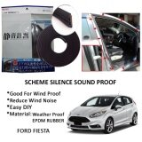 Ford Fiesta SCHEME SILENCE (Double D) DIY Air Tight Slim Rubber Seal Stripe Sound & Wind Proof & Sound Proof for Car (4 Doors)