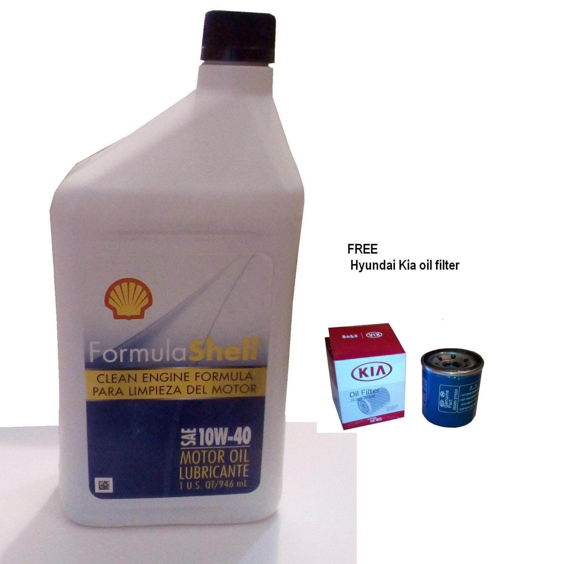 Formula Shell Clean Engine 10W40 Conventional Motor Oil 4 bottles Free Kia oil filter