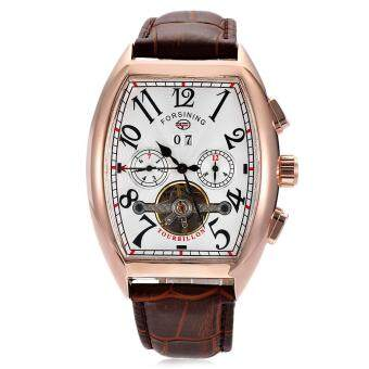 Forsining F201672801 Male Auto Mechanical Watch Tourbillon Date DayMonth Display Wristwatch - 2