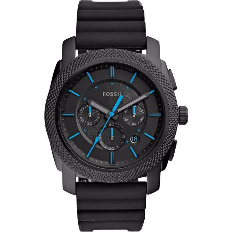 FOSSIL FS5323 Machine Black Dial Mens Chronograph Watch Malaysia