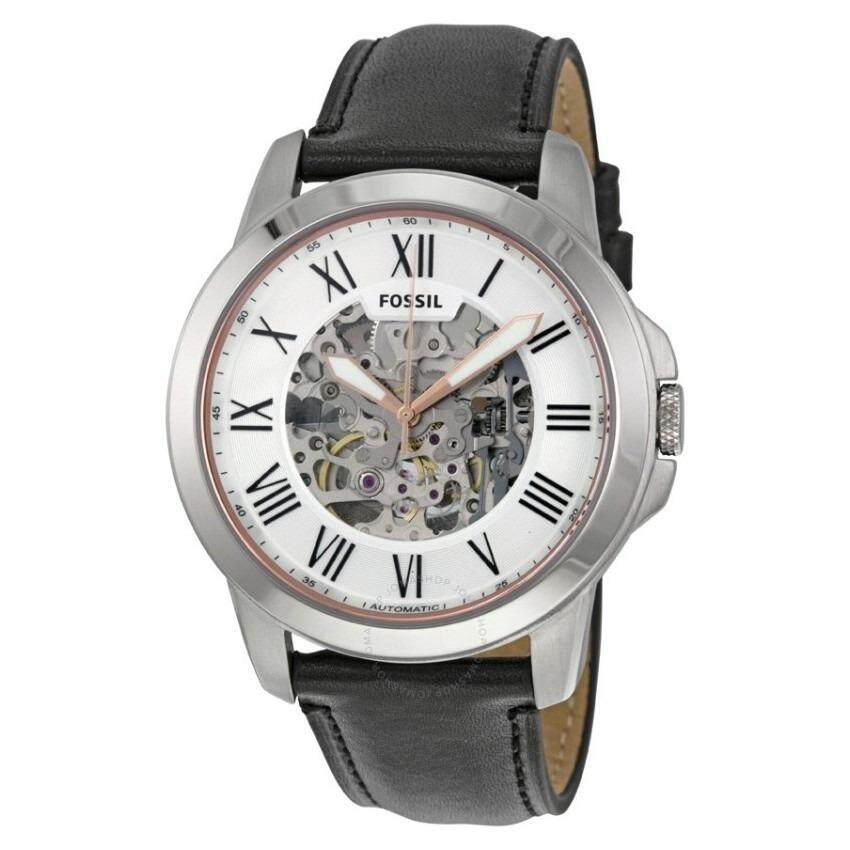 FOSSIL ME3101 Grant Silver Skeleton Dial Automatic Men's Watch
