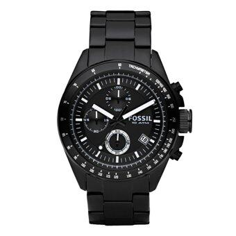 Harga Fossil Men Decker Chronograph Black Stainless Steel Watch CH2601