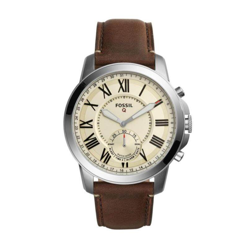 FOSSIL Q GRANT DARK BROWN LEATHER HYBRID SMARTWATCH Malaysia