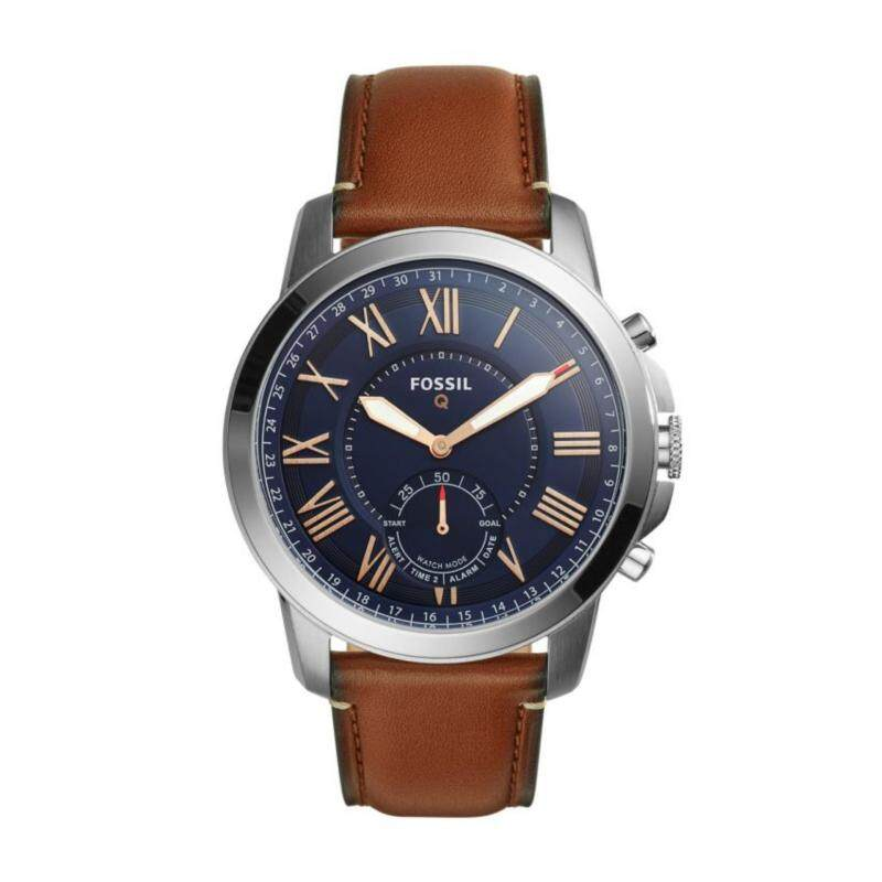 FOSSIL Q GRANT LIGHT BROWN LEATHER HYBRID SMARTWATCH Malaysia