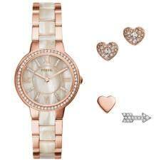 Fossil Women Es3965set Virginia Rose Tone Stainless Steel Watch