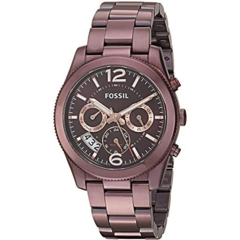 Fossil Womens ES4110 Perfect Boyfriend Sport Multifunction Wine Stainless Steel Watch Malaysia