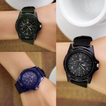 FREEMARKET Buy 1 Free 2 - Men Nylon Knitted band Gemius Military Army Quartz Movement Watch (3 Colors)