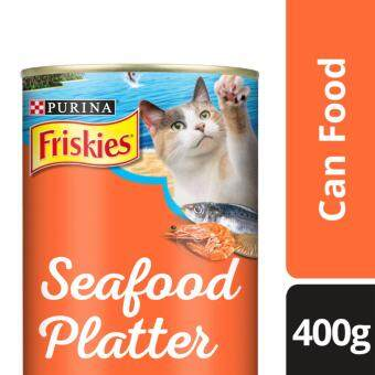 Harga FRISKIES(R) Seafood Platter in Prawn Jelly Flavour Wet Cat Food Can (1 Can of 400g)