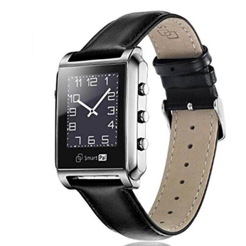 From USA Bluetooth Smart Watchs for Man Smartwatch Waterproof for iphone Android Stainless Steel Genuine Leather Strap SmartPal G1 ( Sliver ) Malaysia