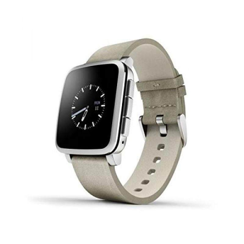 From USA Pebble Time Steel Smartwatch for Apple/Android Devices - Silver (Certified Refurbished) Malaysia