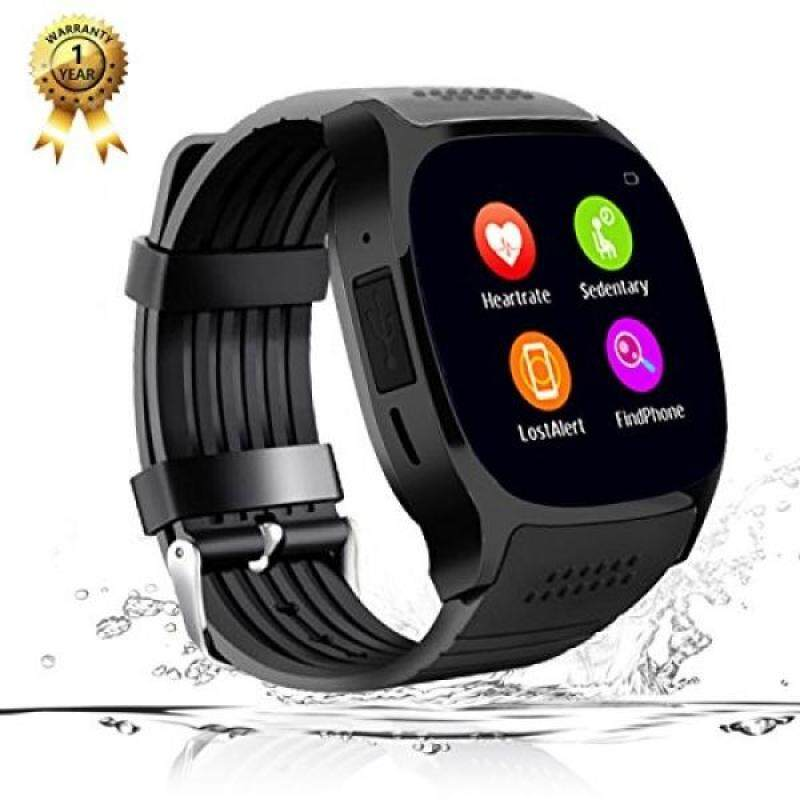 From USA Smart Watch Phone Watch Bluetooth Smartwatch Fitness Tracker Blood Pressure Heart Rate Sleep Monitor Smart Wrist Watch All Functions Match for IOS iPhone 6S Plus 7 8 and Android Men Women Kids (Black) Malaysia