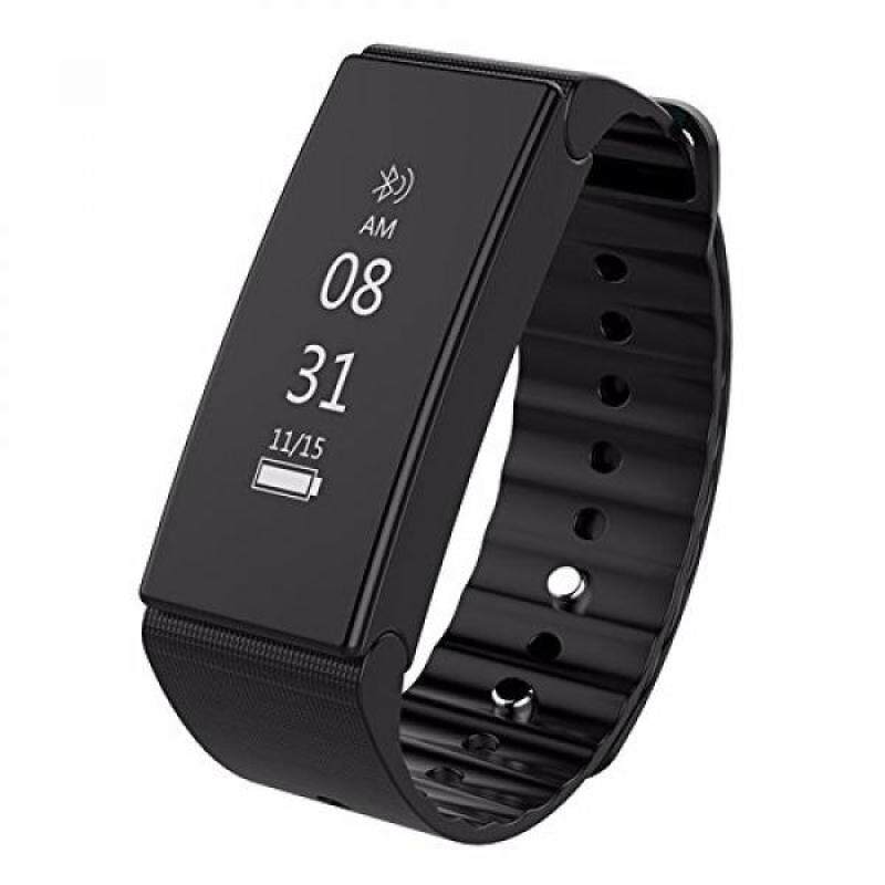 From USA Smart Watch,IP67 Waterproof Wrist Band Watch Screen Slide Touching Silicone Sport Watch ,Outdoor Sport , Support Android And IOS System Smartphone (Black) Malaysia