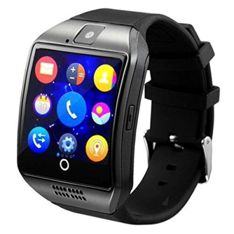 From USA Smart Watch,YOKEYS Touch Screen Bluetooth WristWatch Fitness Watch with Camera SIM Card Slot/ analysis/Sleep Monitoring for Android (Full Functions) and IOS (Partial Functions) Men Women (Q Black) Malaysia