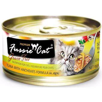 FUSSIE CAT PREMIUM TUNA WITH ANCHOVY 80GM (12 CANS)