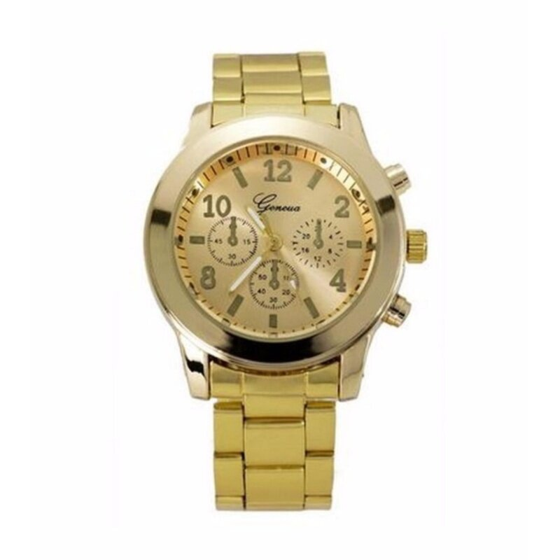 Geneva Unisex Stainless Steel Casual Business Fashion Watch 632643 Gold Malaysia