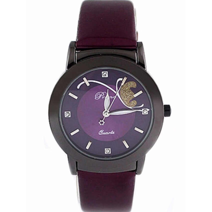 Geneva Unisex Stainless Steel Casual Business Fashion Watch 633489 Purple