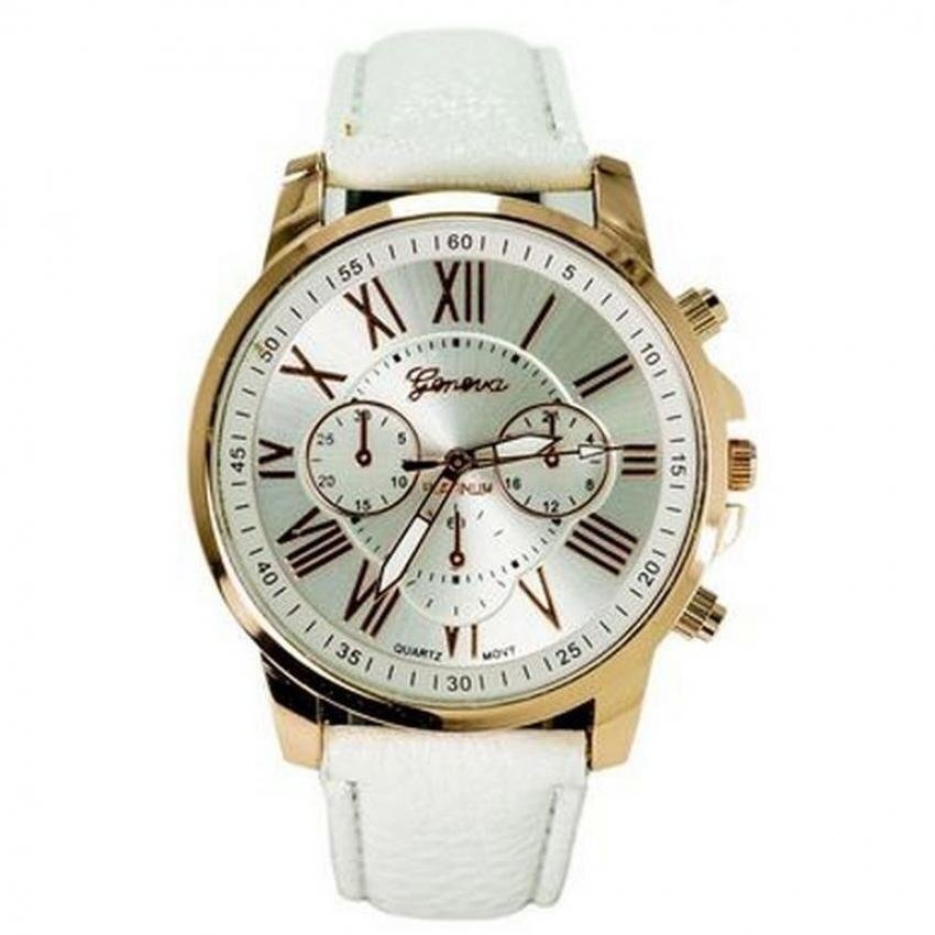 Geneva Unisex Stainless Steel Casual Business Fashion Watch 635418 White