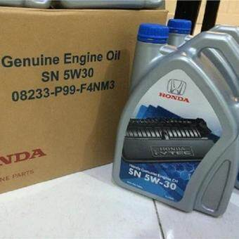 Harga GENIUNE HONDA ENGINE OIL SEMI SYNTHETIC SN 5W-30 4L