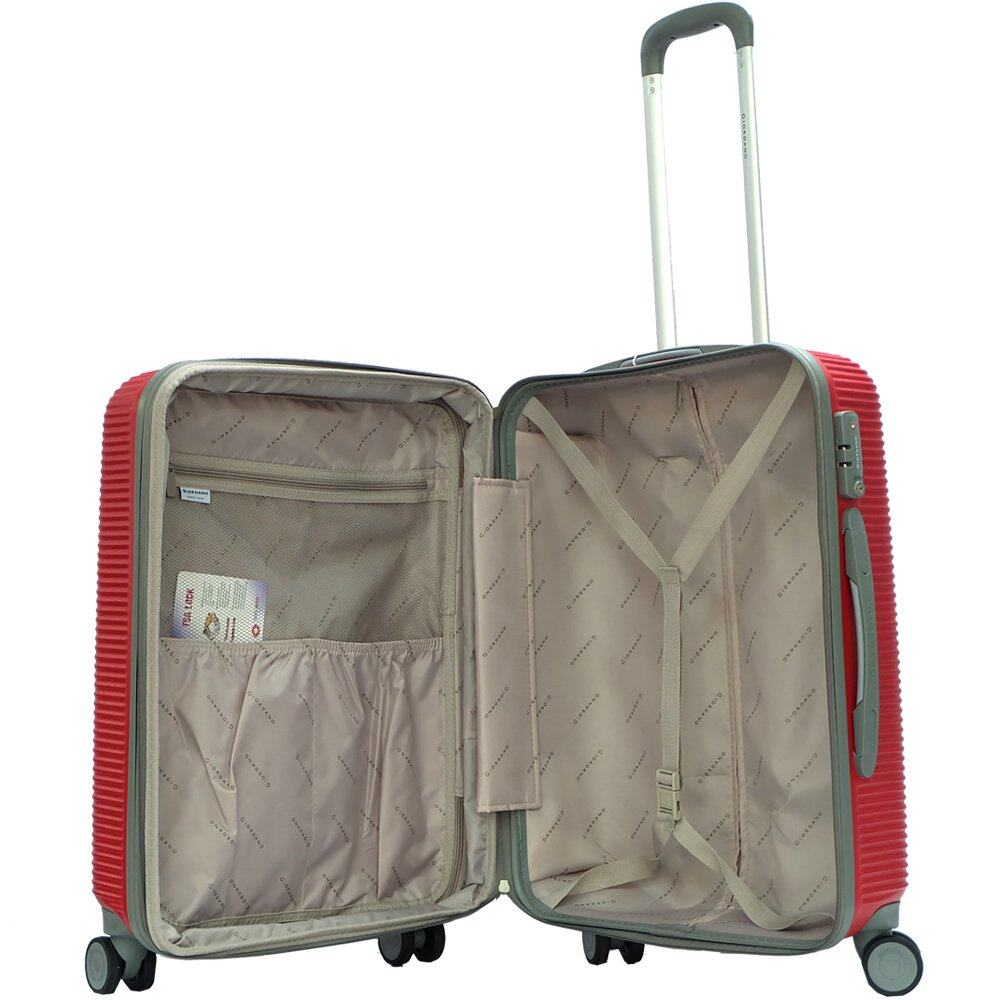 Giordano 8016P 28inch Ultra Strength ABS Hard Case Trolley (Red)