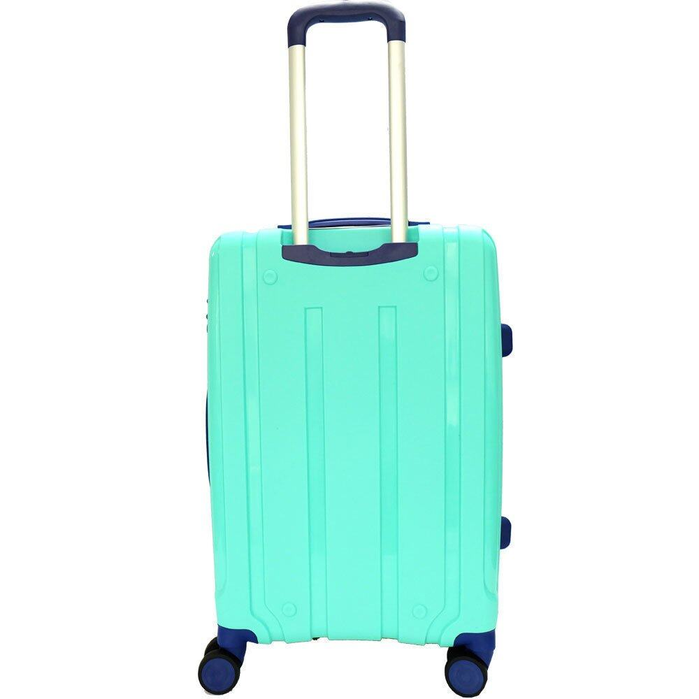 Giordano GA9500 24 Inch Unbreakable PP Hard Case Trolley (Green)