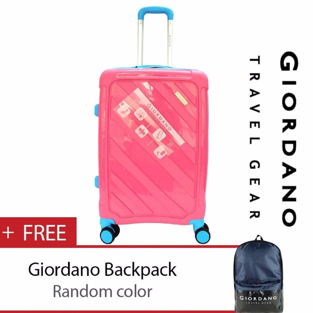 Giordano GA9501 24 Inch Unbreakable PP Hard Case Trolley (Pink)