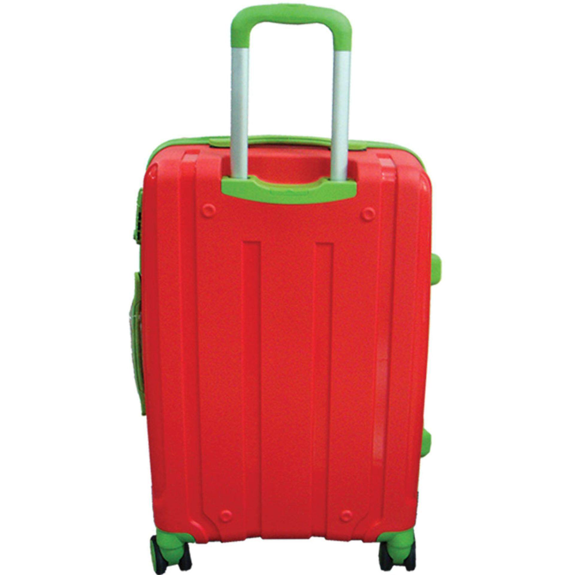 Giordano PPZ301  3-in-1 Unbreakable PP Hard Case Trolley (Red Green)