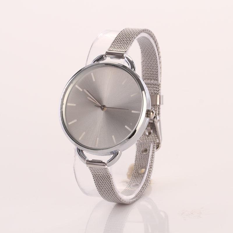 Gold Girls Women Ladies Analog Stainless Quartz Bracelet Wrist Watch Silver Malaysia