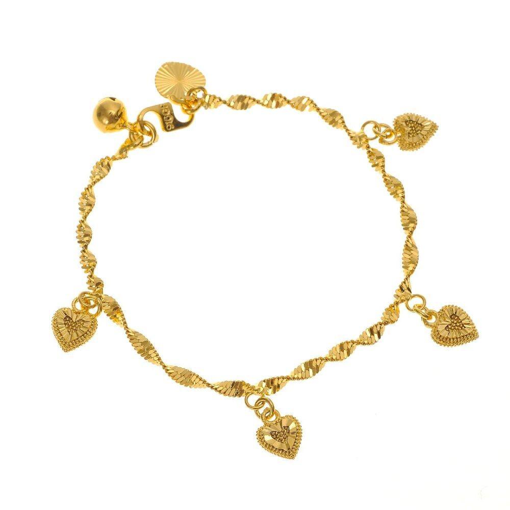GJ Jewellery Emas Korea Bracelet - Gila-Gila + Love  2.0 (2360210-0)/Gold Plated