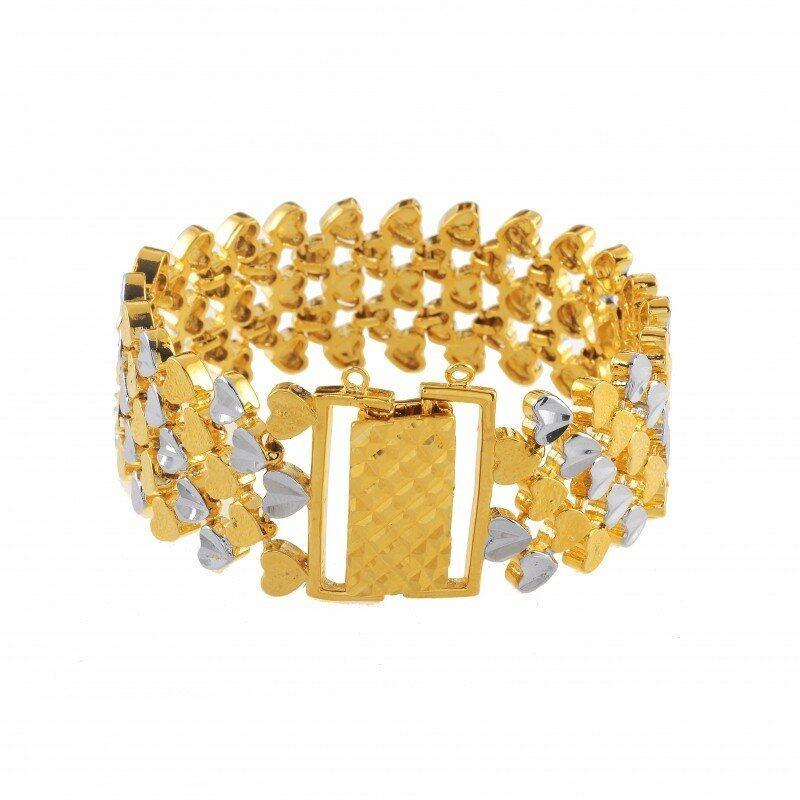 Emas Korea 24k Cop9I6 Golden Jaguar Bracelets(208802)