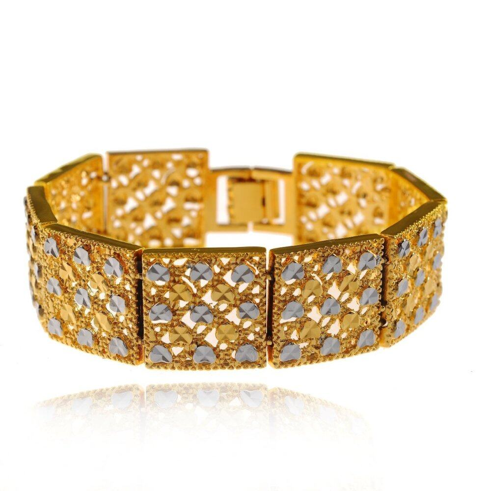Emas Korea 24k Cop9I6 Golden Jaguar Bracelets(28863)