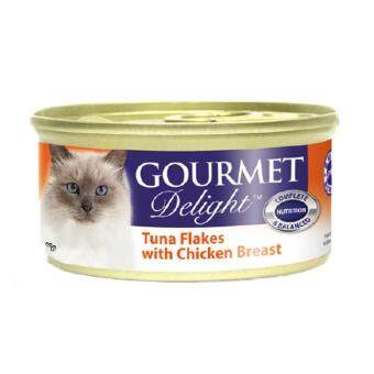 Harga Gourmet Delight Whitemeat Tuna Flakes With Chicken Breast 85G (24CANS)