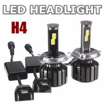 Harga H4 Hi/Lo 120W 10000LM CREE LED Headlight Kit Hi/Lo Beam Bulbs 6000K