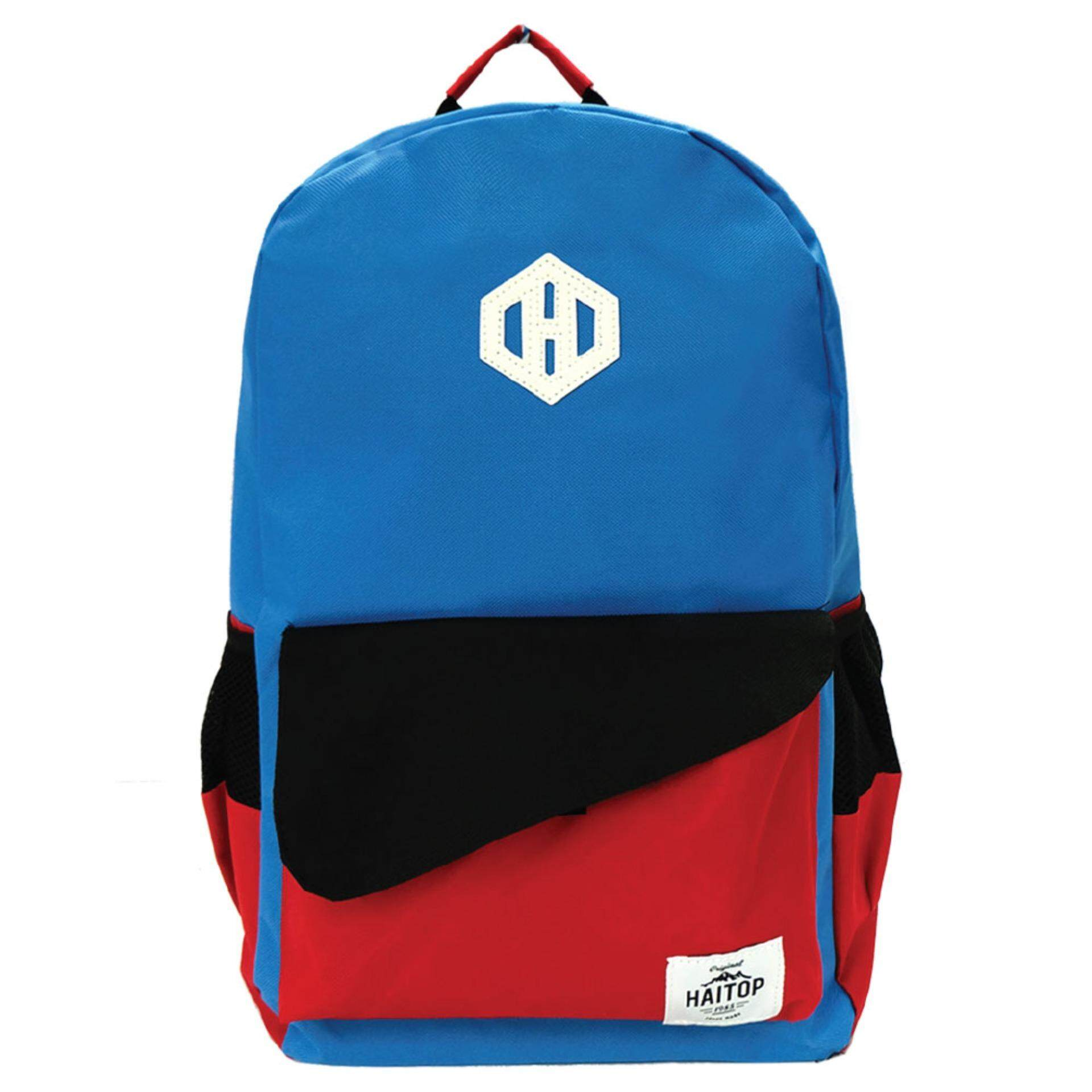Haitop HB1654 18\'\' Trendy Backpack (Blue/Red)
