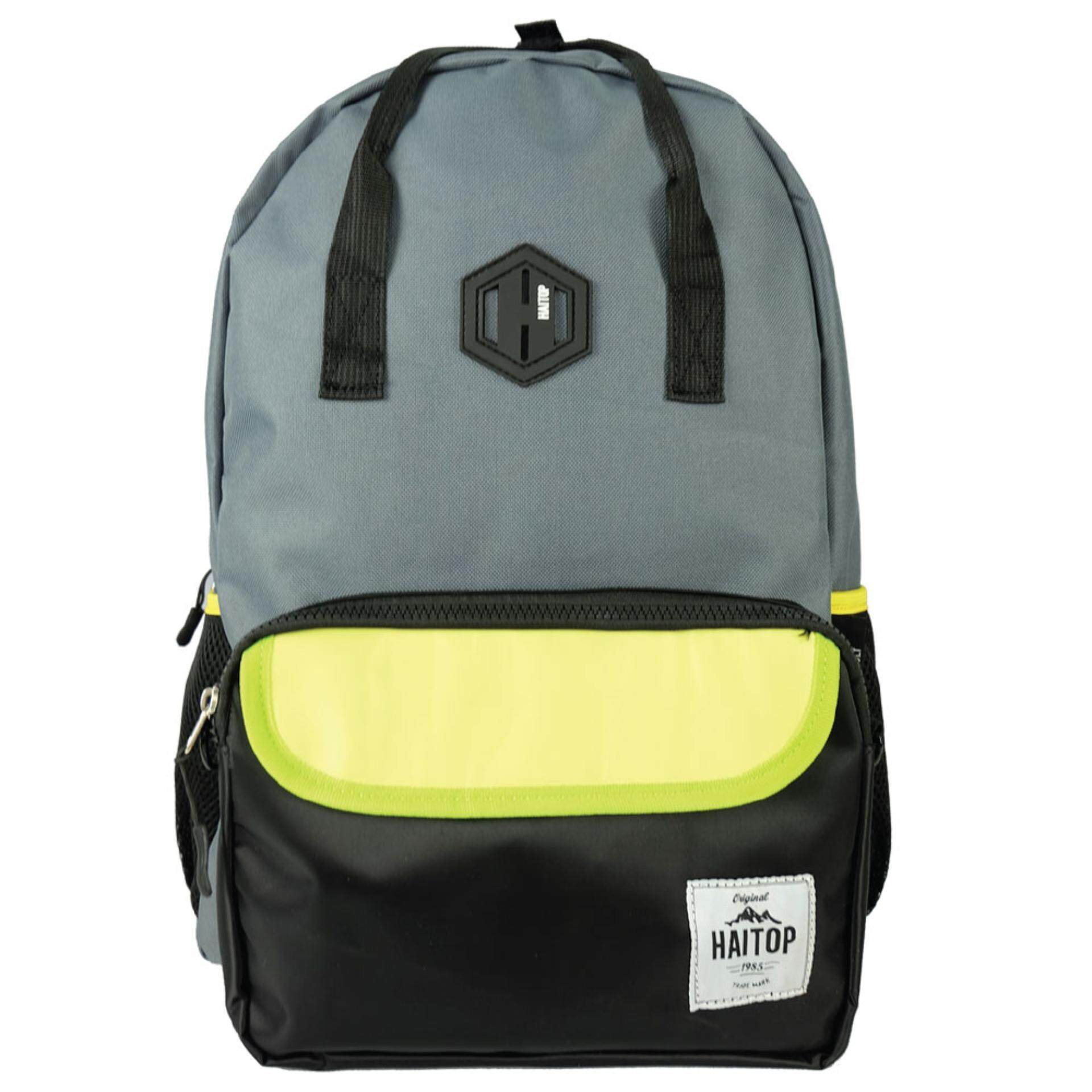 Haitop HB1655 18'' Two-Way Notebook Backpack (Grey/Black)