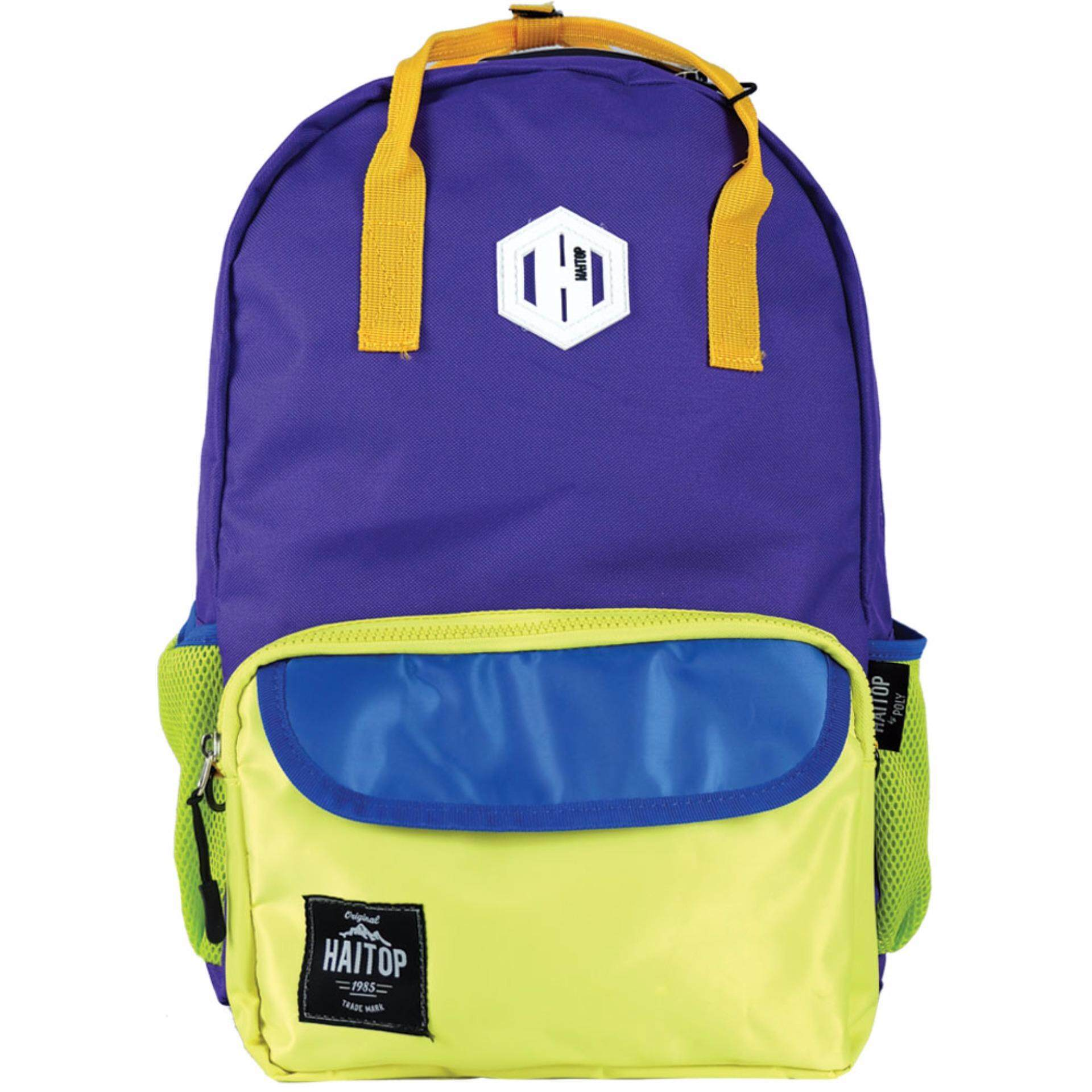 Haitop HB1655 18'' Two-Way Notebook Backpack (Violet/Yellow)