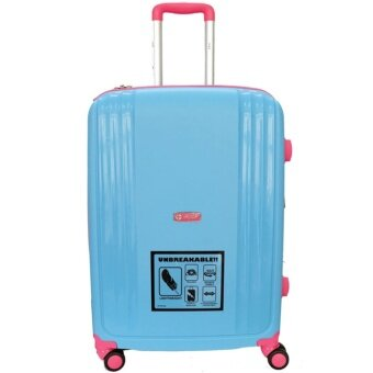 Handry 24 inch Anti-Break PP Hard Case Trolley (Blue Pink)