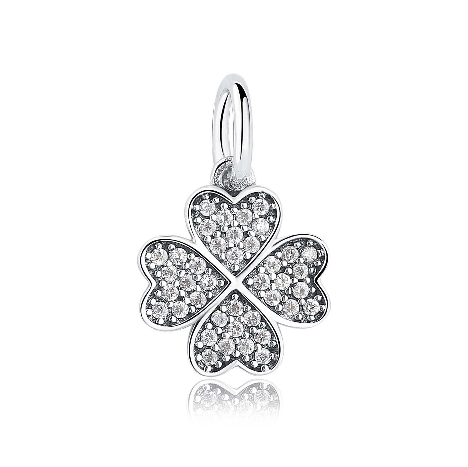 Toko Happiness Four Leaf Clover Pendant Charms Fit Original Bracelet Necklace 925 Sterling Silver Symbol Of Lucky In Love Pas136 Lengkap