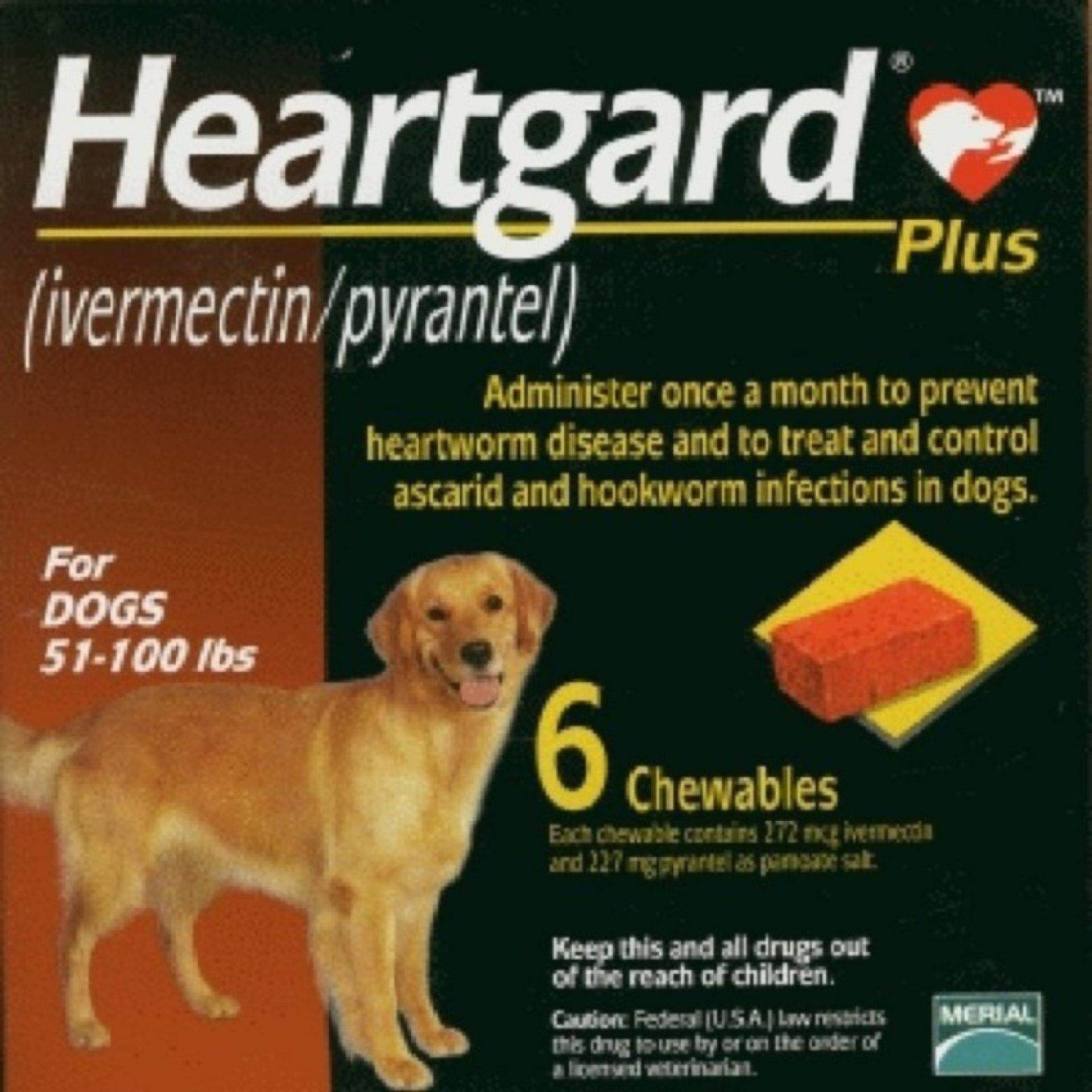 Heartgard Plus Chewables (Brown) 51-100 lbs