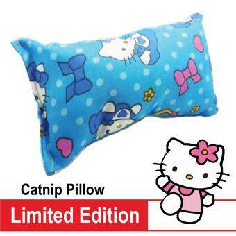 Hello Kitty Catnip Pillow - Strong Canadian Catnip - Blue