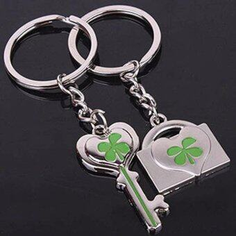 Hequ K038 Fashion and lovely lucky clover couple keychains smallgifts key chain hanging lovers