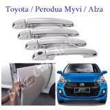 Broz High Quality Car Sporty Stainless Steel Chrome Door Handles Set For Toyota / Perodua Myvi / Alza