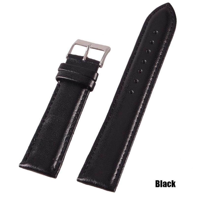 High Quality Store New 18mm/20mm/22mm Genuine Leather Wrist Watch Band Strap Stainless Steel Pin Buckle Black-22mm Malaysia