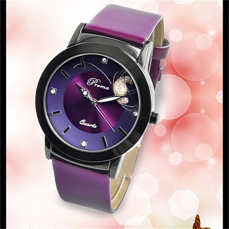Homester PREMA Premium Butterfly Fashion ladies Watch - Purple Malaysia