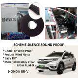 Honda BRV SCHEME SILENCE (Double D) DIY Air Tight Slim Rubber Seal Stripe Sound & Wind Proof & Sound Proof for Car (4 Doors)