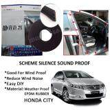 Honda City 2003-2016 SCHEME SILENCE (Double D) DIY Air Tight Slim Rubber Seal Stripe Sound & Wind Proof & Sound Proof for Car (4 Doors)