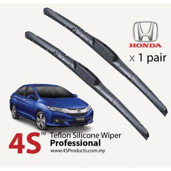 "Honda City 2003-2017 4S Professional Series Wiper Silicone Blades 24"" + 14\"" (1 pair)"