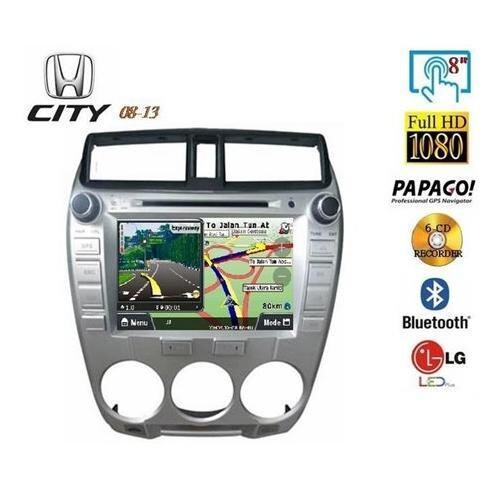 "HONDA CITY 2009 - 2013 8 Full HD Double Din GPS DVD DIVX VCD MP3 CD USB SD Bluetooth TV Player Free Camera & TV Antenna"""