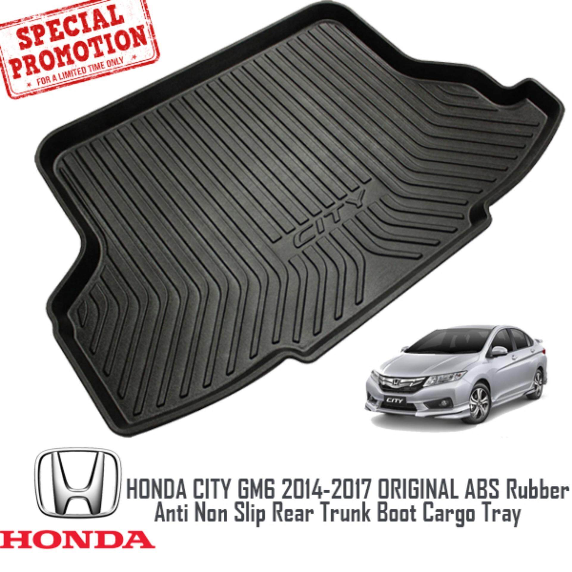 HONDA CITY GM6 2014 - 2017 ORIGINAL ABS Rubber Anti Non Slip Rear Trunk Boot Cargo Tray